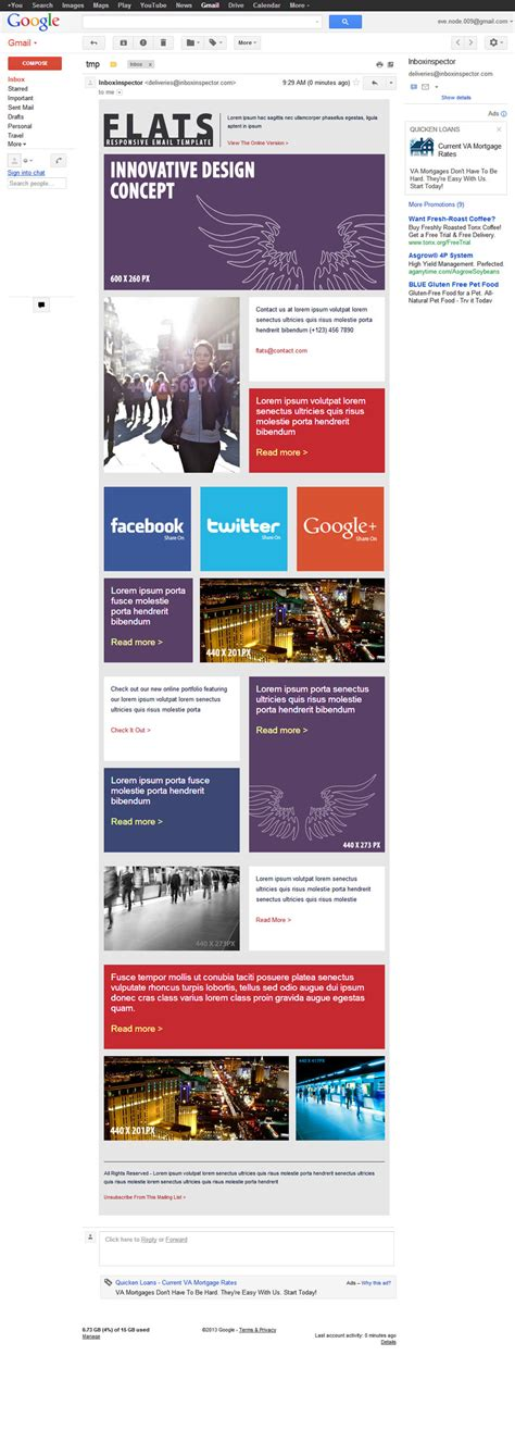 gmail themes for chrome 27 general flat email templates dark light by