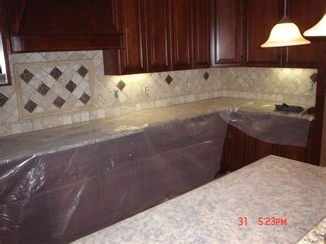 travertine backsplash kitchen remodel pinterest