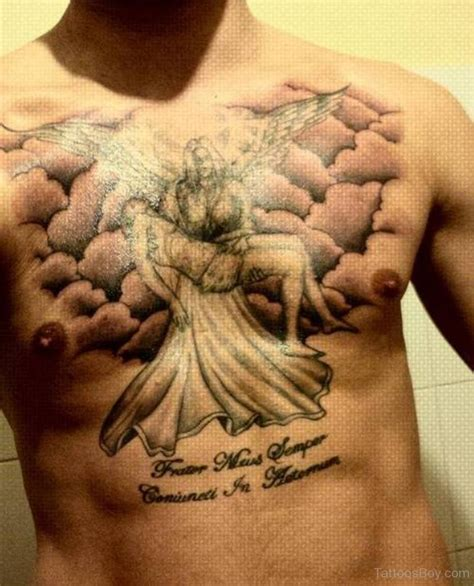 angel tattoos on chest tattoos designs pictures page 4