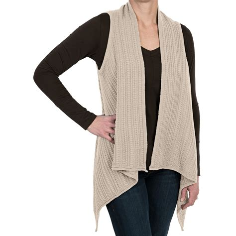 Sweater Knit Vest Open Front For Save 86