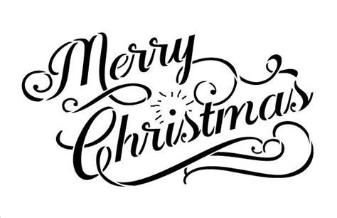 merry christmas word stencil elegant vintage