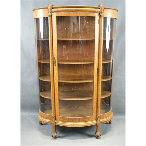 oak curio cabinets with curved glass antique oak china cabinet curved glass antique furniture