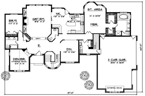 European Style House Plans 2600 Square Foot Home 1 2600 Square Foot Ranch House Plans