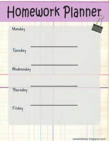 Homework Planner Template You Can Download The Homework Planner Here For Free