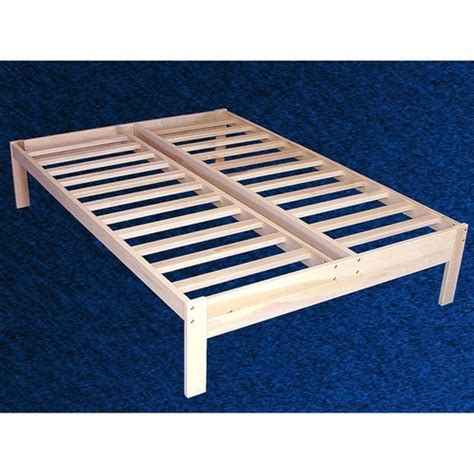 unfinished wood futon frame full size unfinished wood platform bed frame with wooden slats
