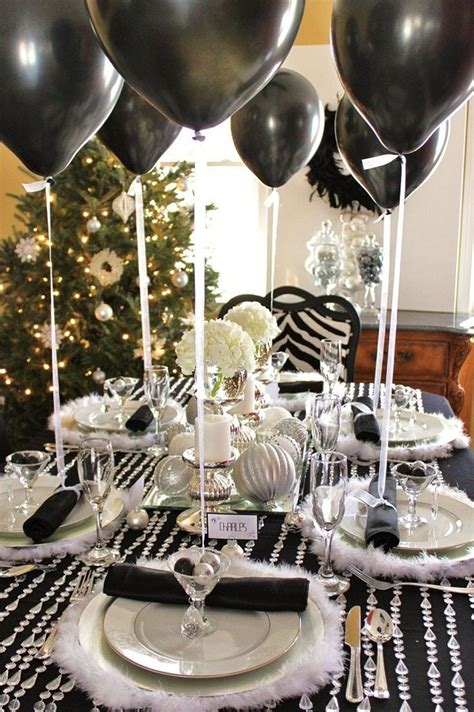 new years table decorations 35 black and white new year s table decorations