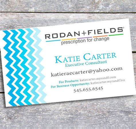 Rodan And Fields Business Cards Template by Rodan And Fields Business Card Printable Digital By