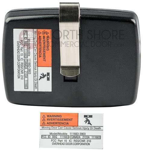 Overhead Garage Door Crusader 3 Button Remote 109130 3903 Crusader Garage Door Opener