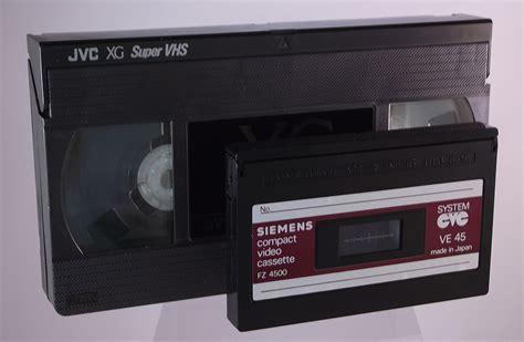 vhs cassette cvc and vhs cassette comparison museum of obsolete media