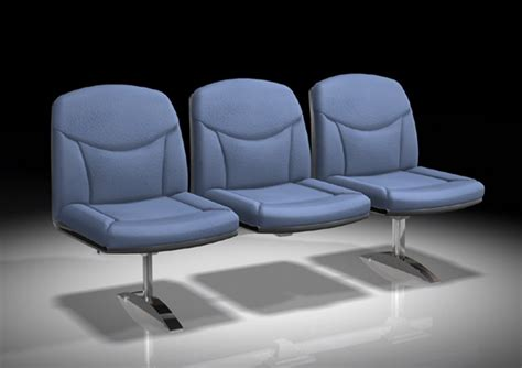 waiting area chairs 3d model blue waiting room chairs 3d model 3ds max files free