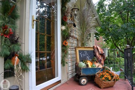 how to decorate porch for fall fall front porch decorating hoosier
