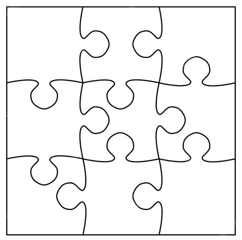 large blank puzzle pieces template large puzzle template printable