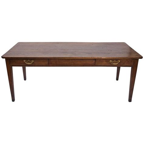 19th century chestnut farmhouse dining table circa