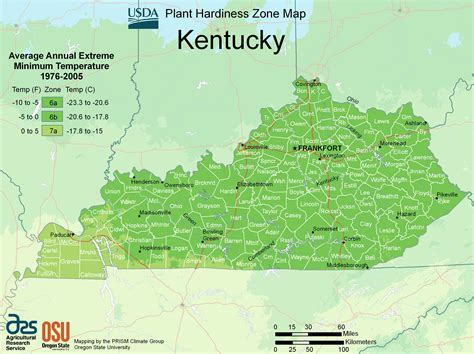physical map of kentucky kentucky plant hardiness zone map mapsof net
