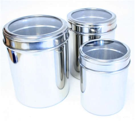 kitchen canisters glass 3 piece storage canisters kitchen set w glass lids ebay