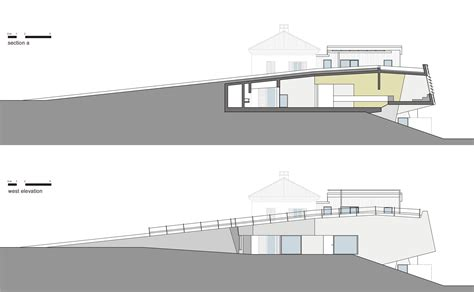 section elevation fisherman s house elastico cesario carena archdaily