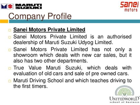 Mba In Maruti Suzuki by Promotions Events And Survey On Individual Perception On
