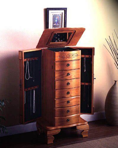 jewelry armoire light oak item deluxe jewelry armoire in light oak finish wood