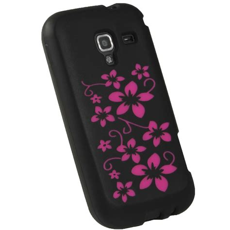 Casing Hp Samsung J1 Ace Black Custom Hardcase Cover black flower skin for samsung galaxy ace 2 i8160 android silicone cover ebay