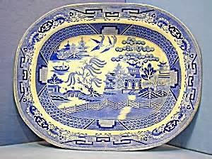 english willow pattern english willow pattern blue white platter h k porcelain