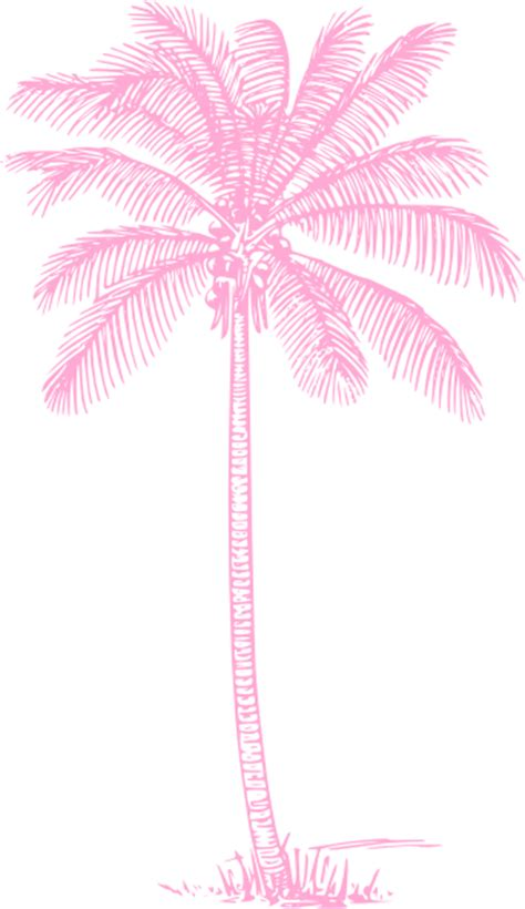 light pink palm tree clip art  clkercom vector clip