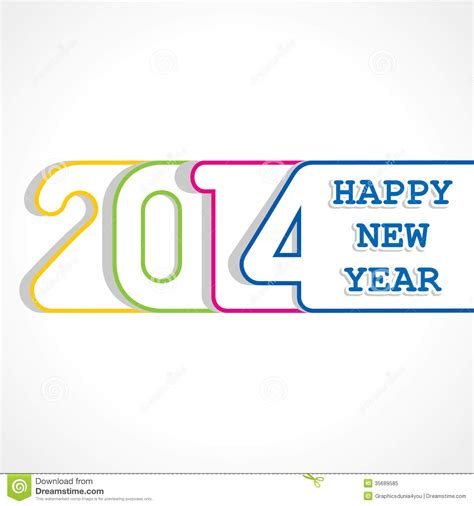 new year vector design creative happy new year 2014 design stock vector image