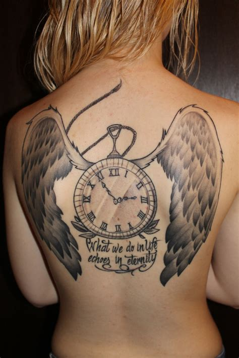 tattooed girl we heart it clock tattoo quotes quotesgram