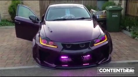 purple lexus awesome custom headlights on purple lexus