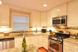 Kitchen Backsplash Photos White Cabinets Kitchen Remodel White Cabinets Tile Backsplash Undercabinet Lighting Island Traditional