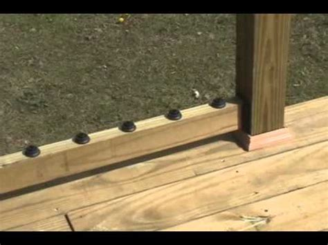 Stair Rails And Banisters Build A Decorative Deck Handrail Youtube