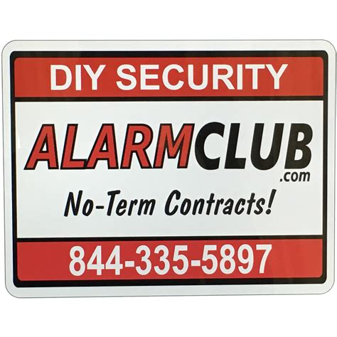 alarmclub home security yard sign