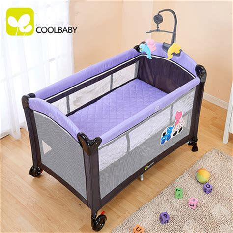 Baby Folding Bed Aliexpress Buy Environmental Protection Baby Multifunctional Folding Crib Infant Baby Bed
