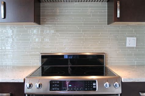 Mosaic Kitchen Tile Backsplash by Sheep S Wool Beige Linear Glass Mosaic Tile Kitchen