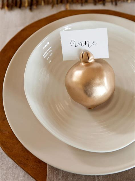 how to make a place card holder how to make pomegranate place card holders hgtv