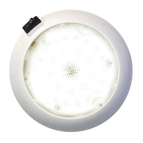 led light with switch marine surface mount 5 1 2 quot led dome light with