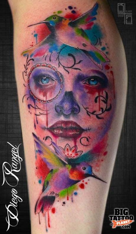 watercolor sugar skull tattoo 277 best ideas images on watercolor