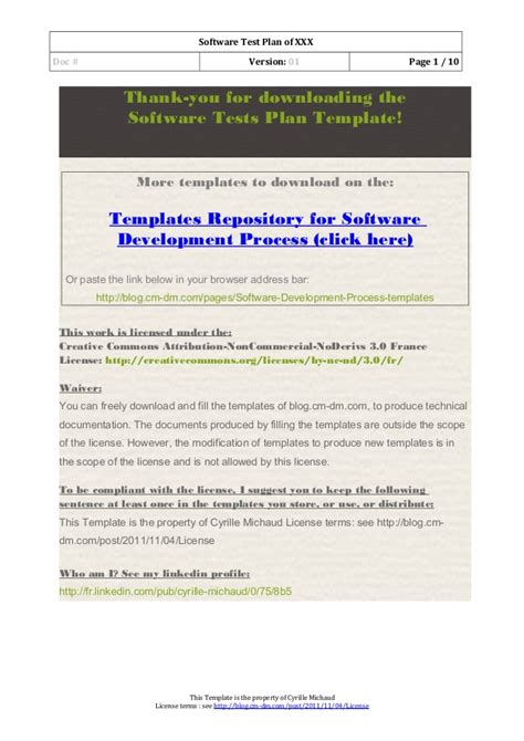 03 Software Test Plan Template Software Test Plan Template