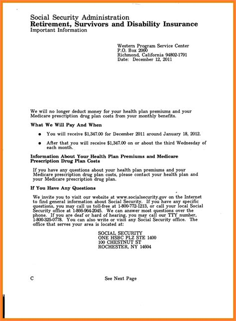 social security approval letter letter world