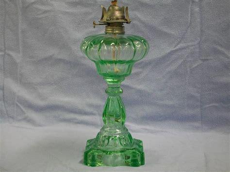 vintage green oil l vintage green depression glass kerosene oil l ebay