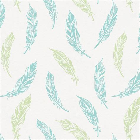 Light Blue Duvet Cover Seafoam Aqua And Pastel Green Hand Drawn Feathers Fabric