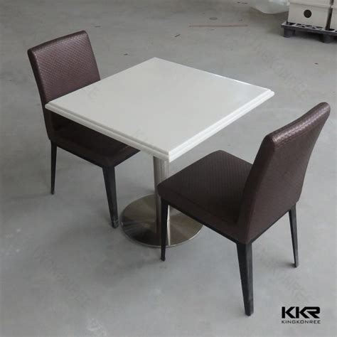 Solid Surface Dining Table Cafeteria Solid Surface White Dining Table And Chair Buy Dining Table And Chair Cafeteria