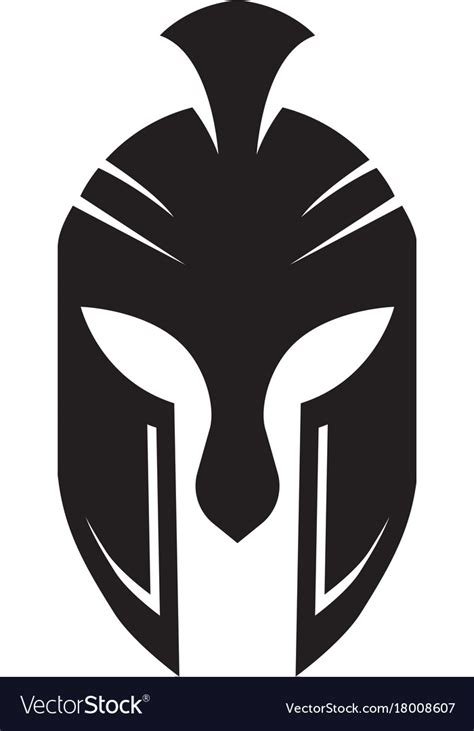 spartan mask template spartan helmet logo template royalty free vector image
