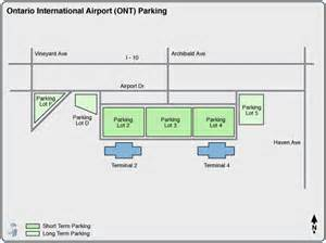 ontario california airport map california map