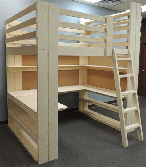 bunk bed with desk plans best 25 loft beds ideas on