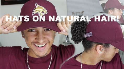 black people hair caps putting a hat on natural hair thick men and women