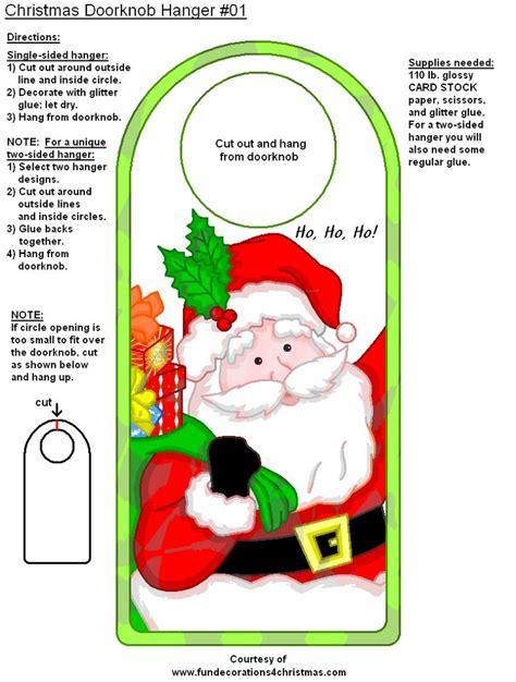 printable christmas door hangers santa door hanger printable secret santa unit pinterest