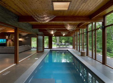 indoor lap pools amazing hudson valley country house by fractal construction