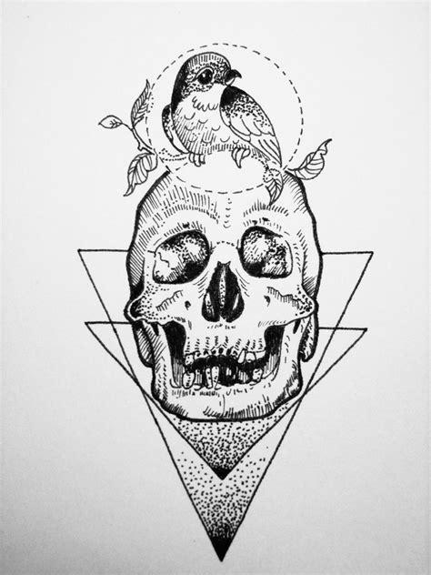 Cráneo y ave | Dibujos, Arte y Tatuajes