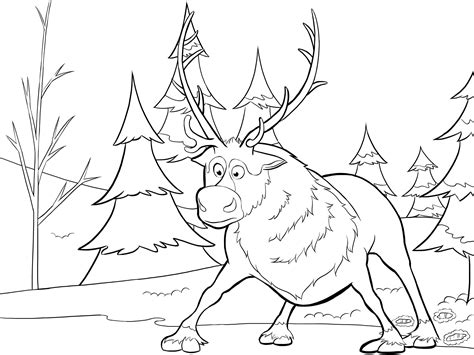 Coloring Pages Frozen Sven | sven from frozen coloring page jpg 2601 215 1951 coloring