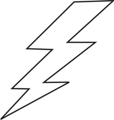Lightning Black Bolt Clip Art At Clker Com Vector Clip Art Online Royalty Free Public Domain Lightning Bolt Template